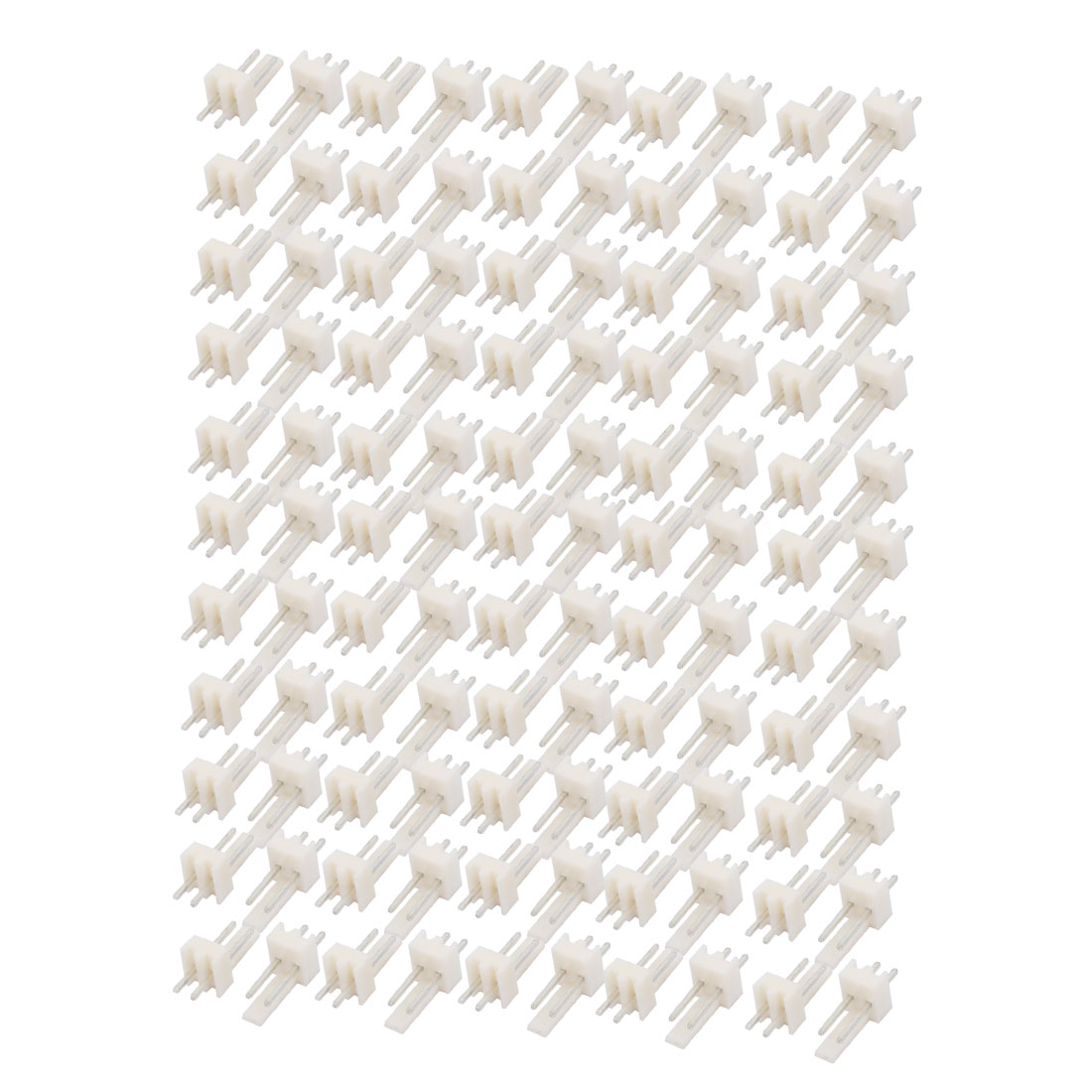 110Pcs 1.65mm Pitch Single Row 2P Docking Connector Plastic Shell White