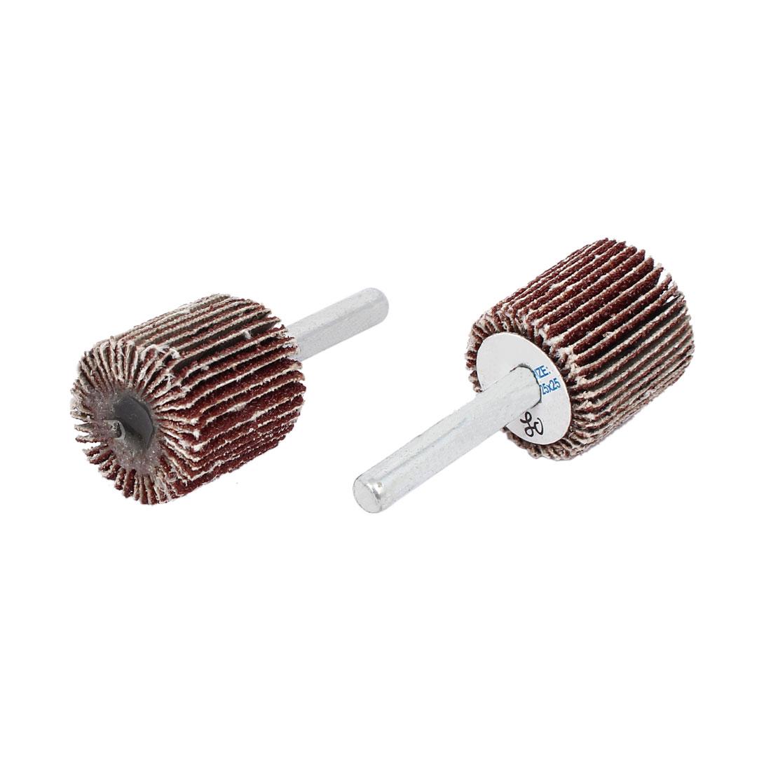 6mmx25mmx25mm Cylinder Head Flap Wheels Polishers Sanding Buffing Tools 2pcs