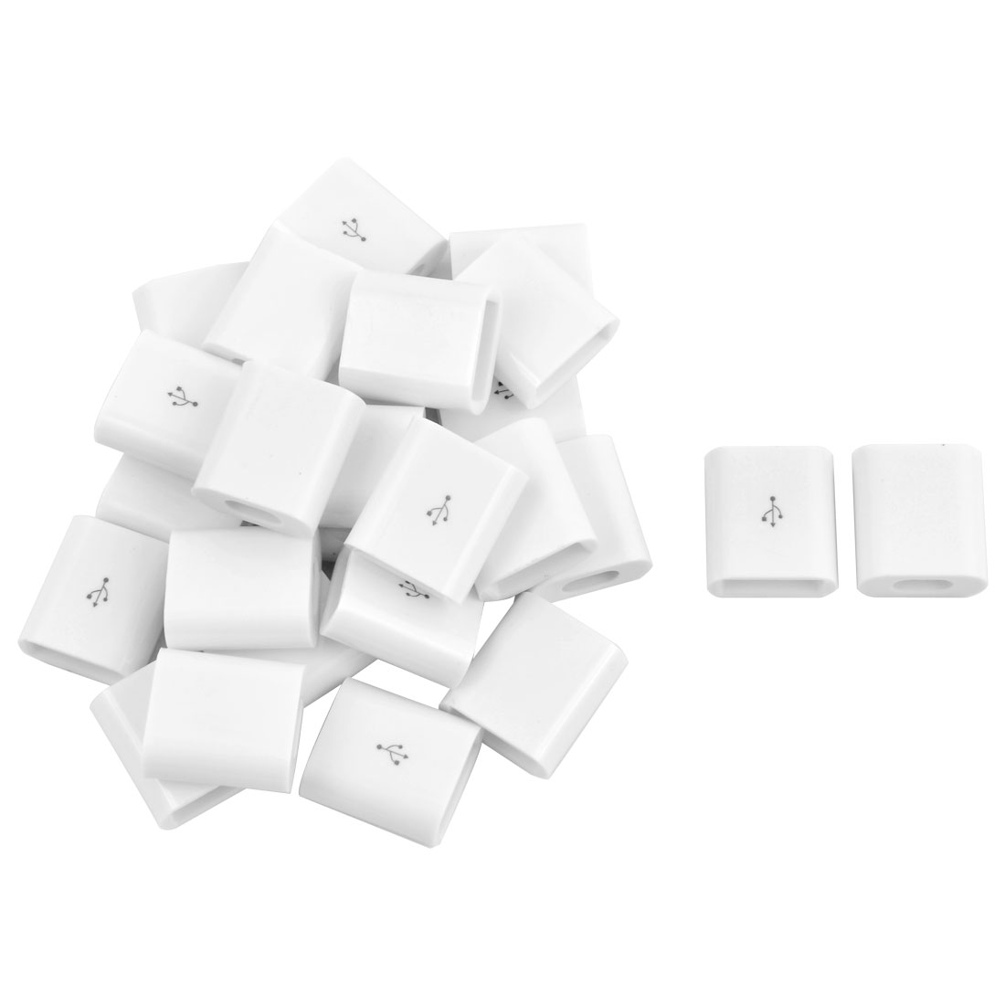 USB Type A Male DIY Connector Jack Cable Replacement Shell Cover White 26pcs