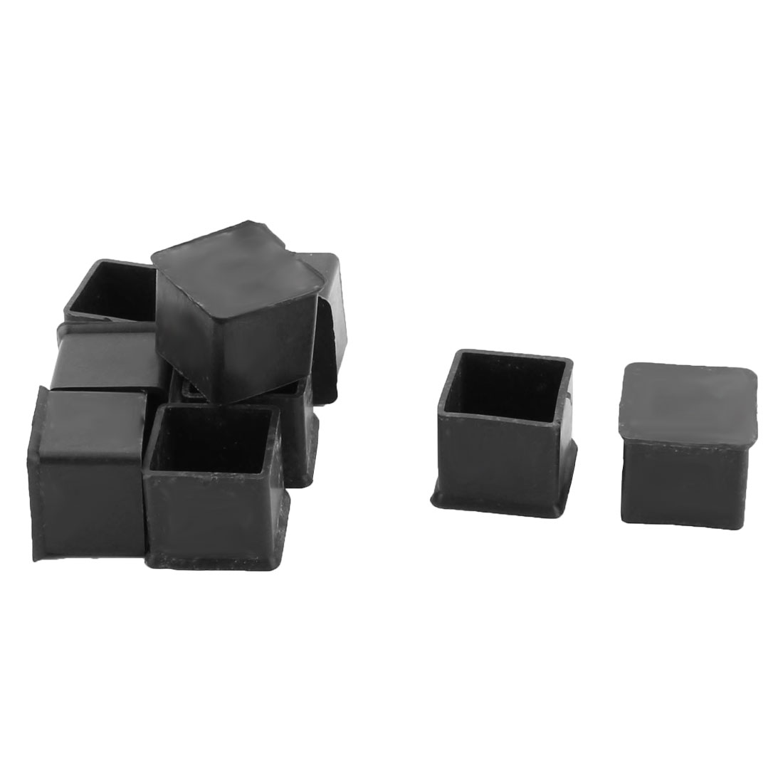 Home Rubber Square Shaped Anti Scratch Furniture Desk Foot Cover Protection Pad Black 9pcs