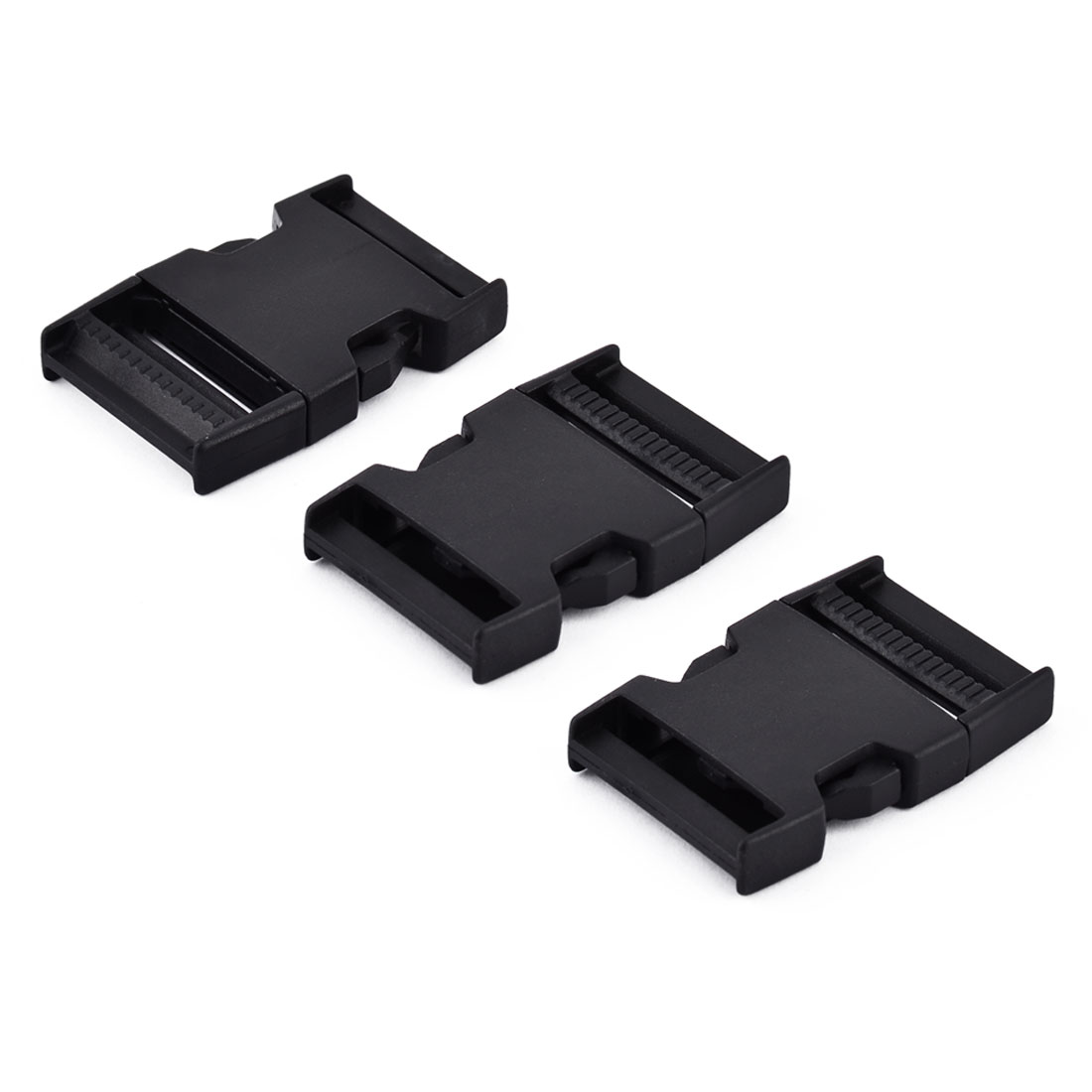 Plastic Quick Side Release Buckle Nylon Buckle Black 68 x 45 x 13mm 3 Pcs