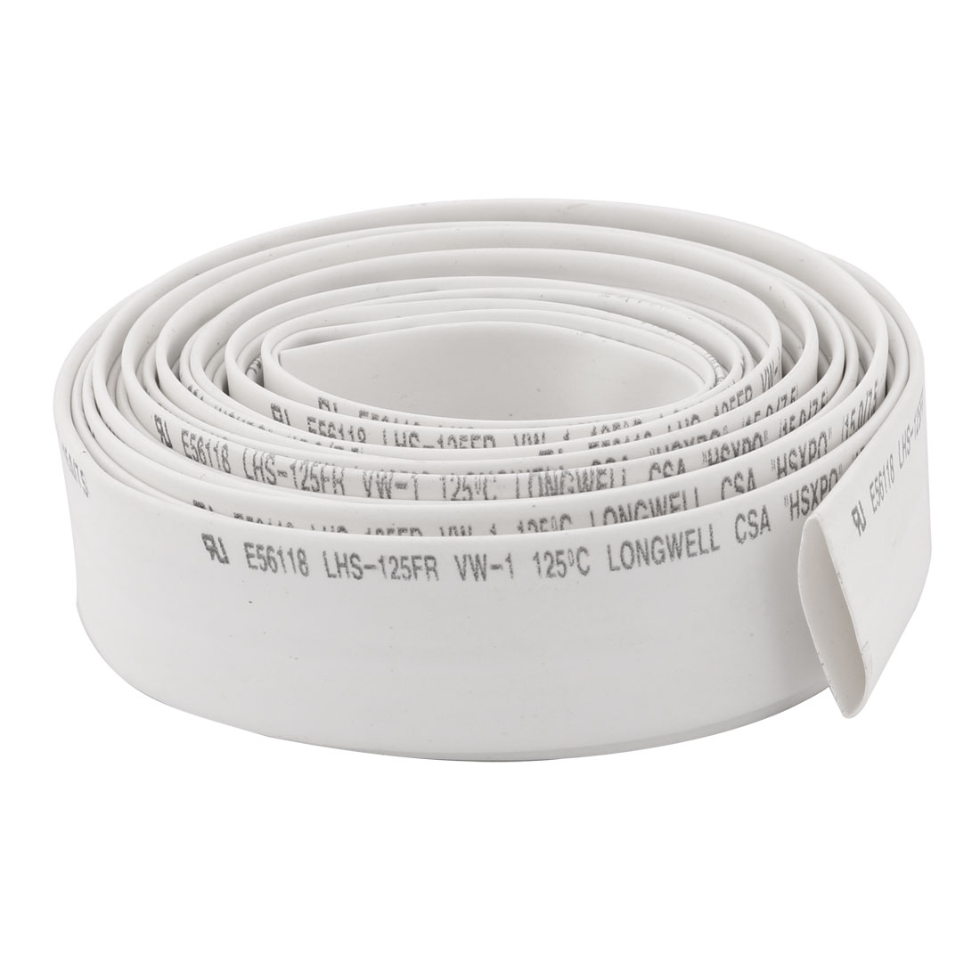 3.7M Length 15mm Dia Polyolefin Heat Shrinkable Tube Sleeving Wire White