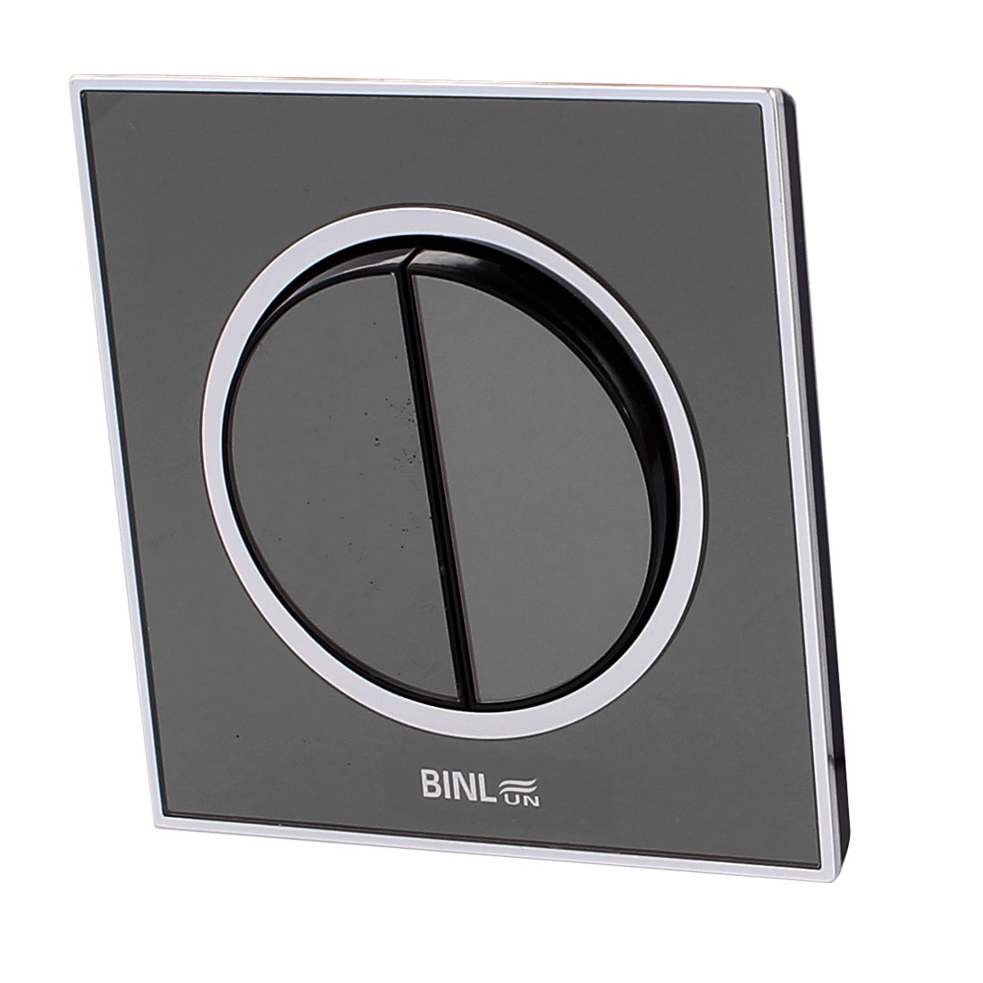 86 x 86mm AC 220V 10A Wall Mounted Dual Button Dual Control Switch Black 86 Type