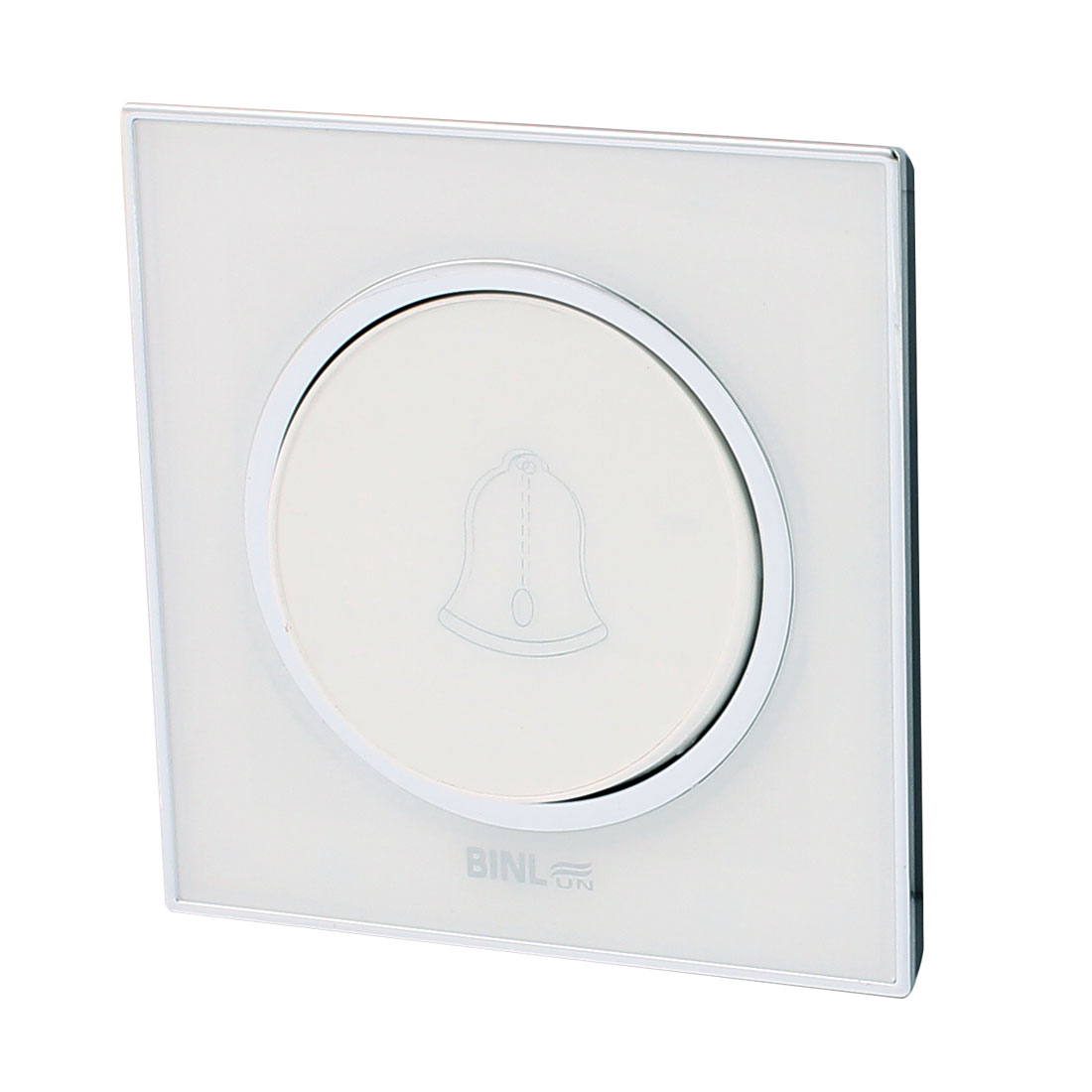 86 Type AC 220V 10A White Case Panel Wall Mounted Doorbell Switch 86 x 86mm
