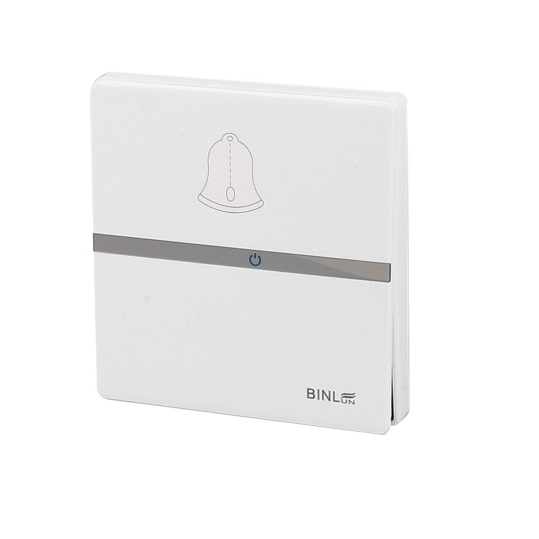 AC 220V 10A White Square Press Button Release Wall Mounted Doorbell Switch Plate