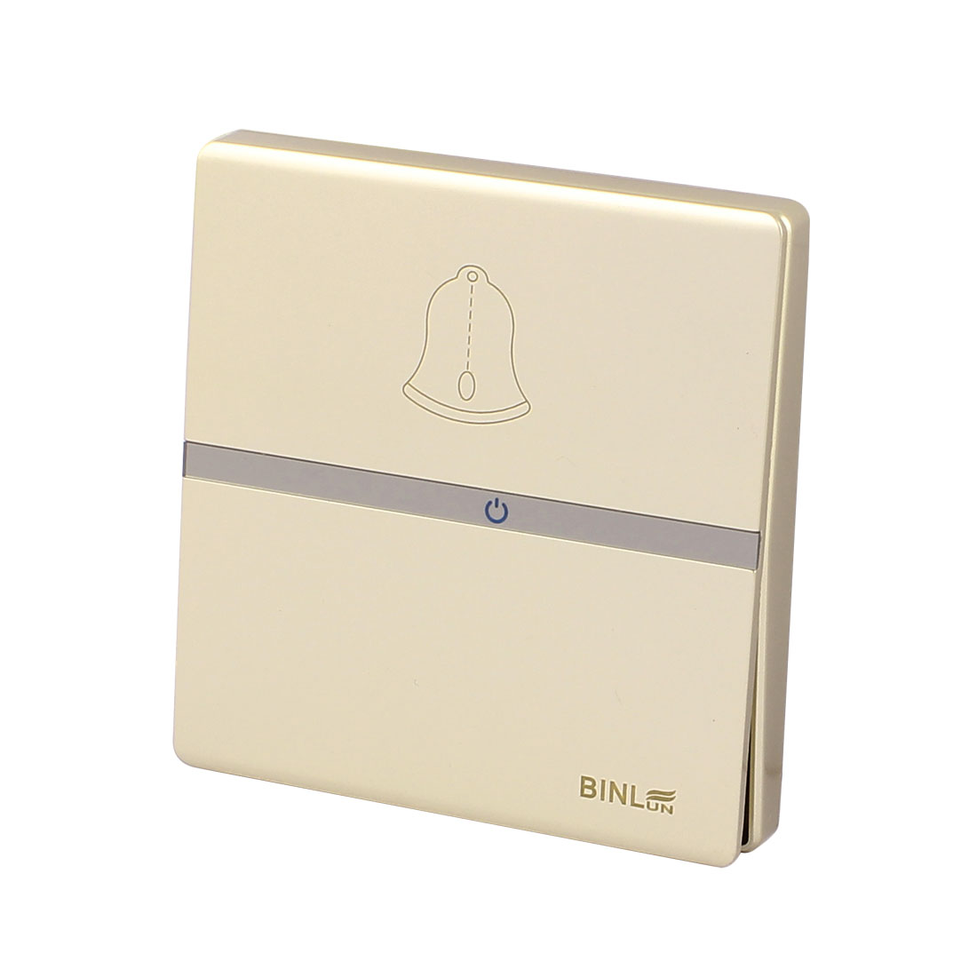 86x86mm Press Button Wall Mounted Doorbell Switch Square Panel AC 220V 10A Golden