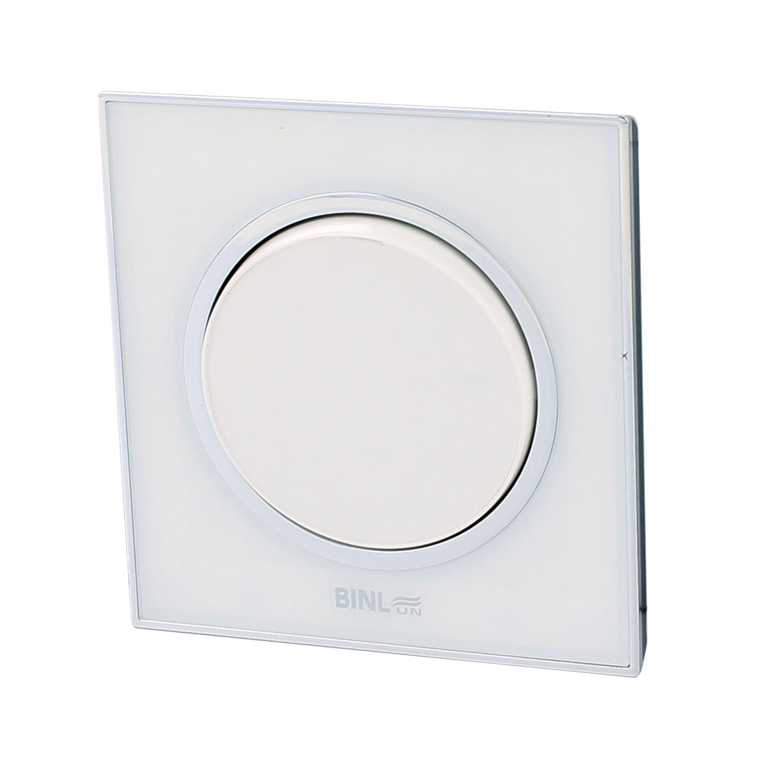 AC220V 10A 1 Gang 2 Way On/Off White Rounded Press Button Wall Mounted Switch