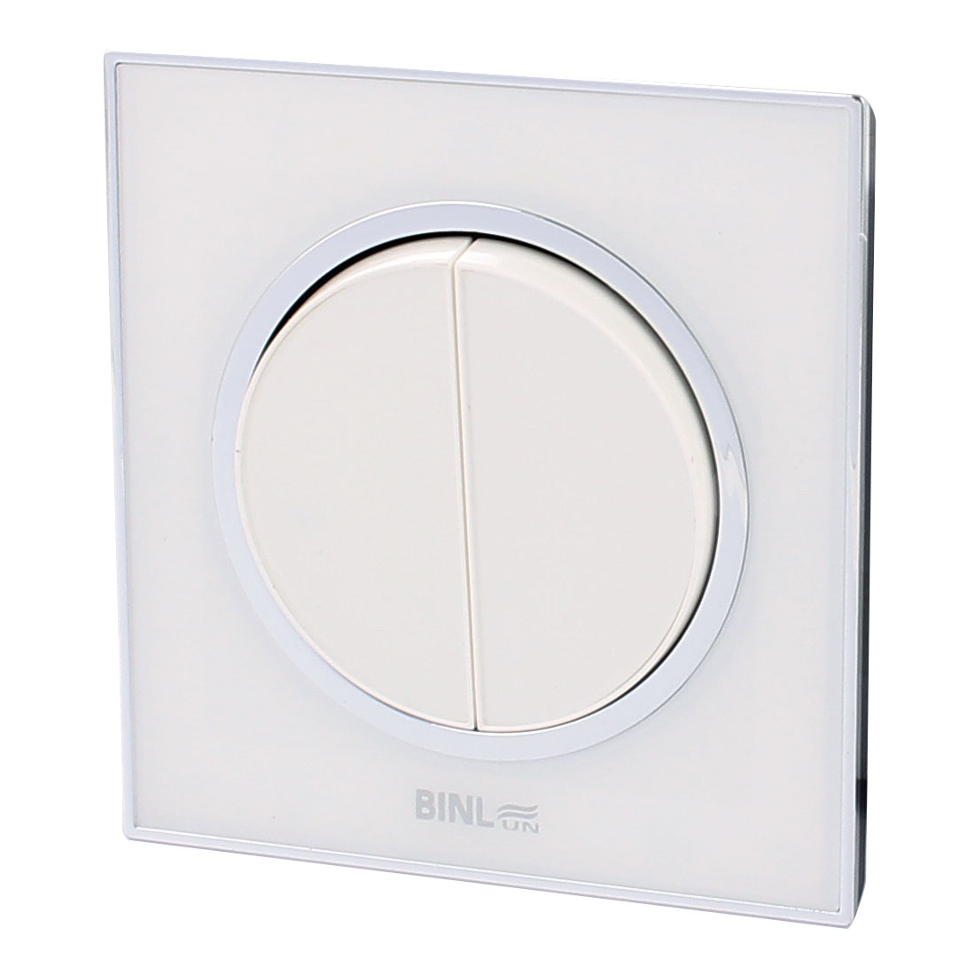 86 Type AC 220V 10A 2 Gang 1 Way ON/OFF Wall Mounted Switch White 86 x 86mm