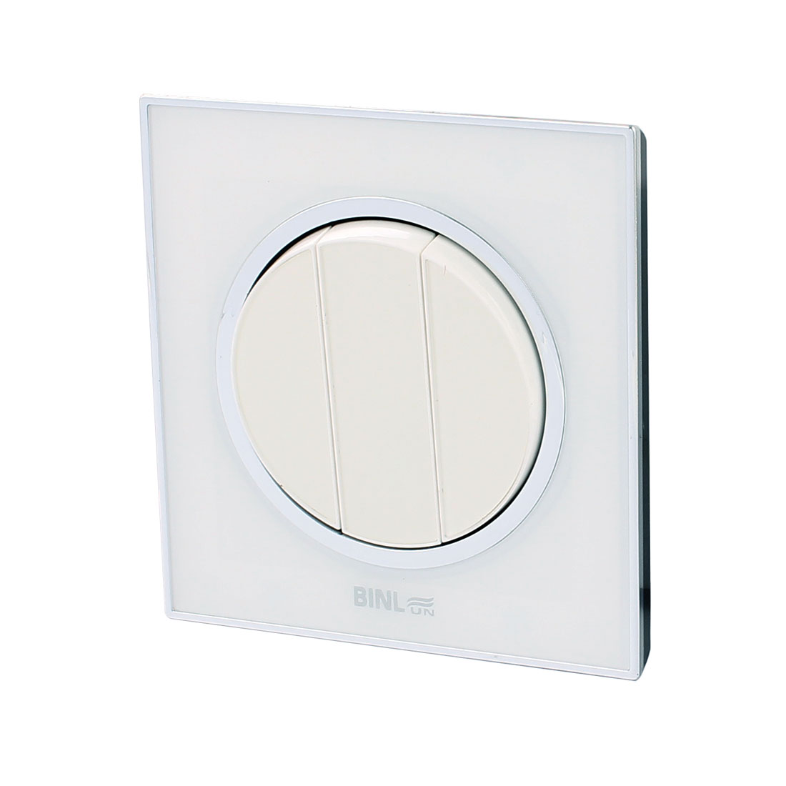 AC 220V 10A 3 Gang 1 Way On/Off White Press Button Wall Mounted Panel Switch