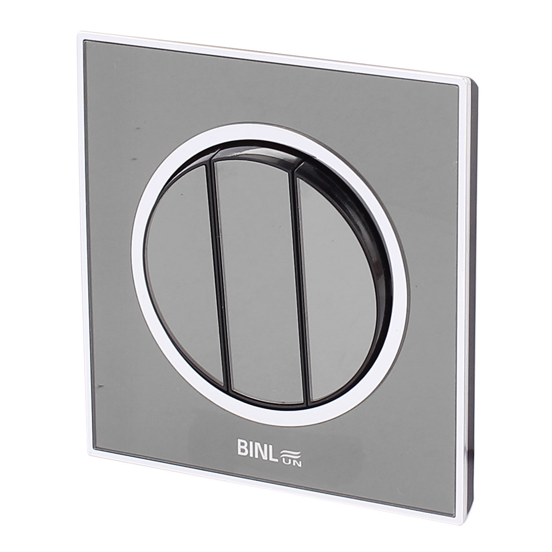 Black Press Button Wall Mounted Panel Switch 3 Gang 1 Way On/Off AC 220V 10A