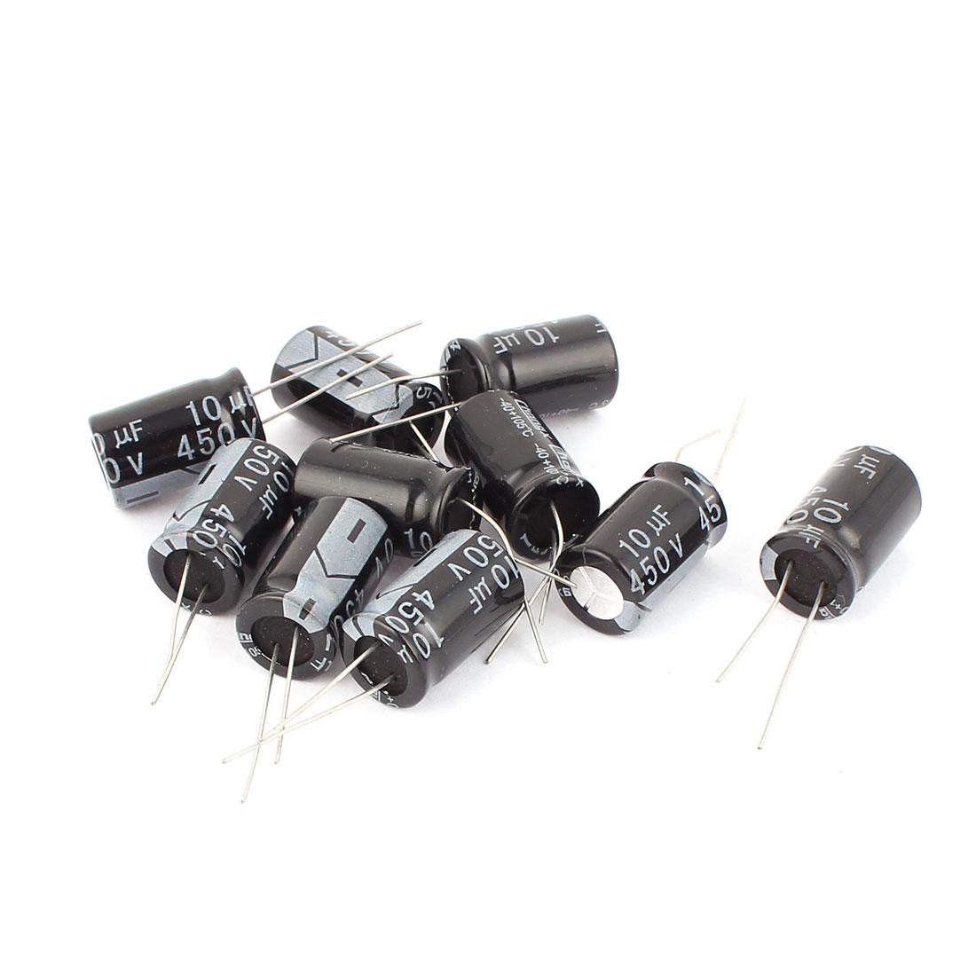 10 Pcs 10uF 450V SMD Aluminum Electrolytic Capacitors 13mm x 21.5mm