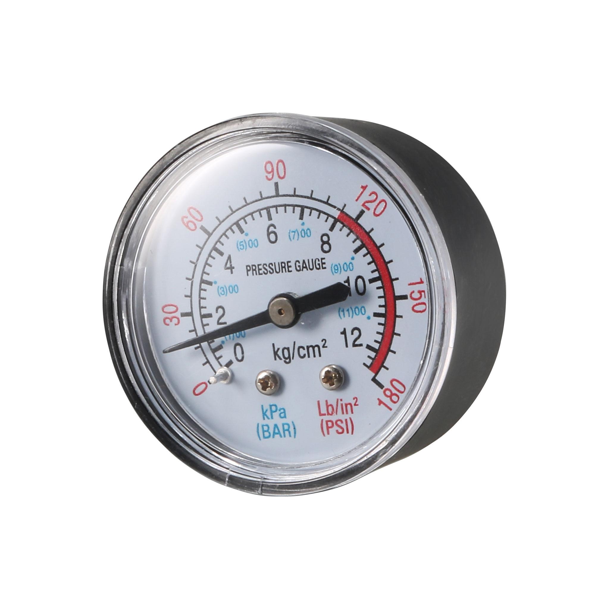 1/4BSP Male Threaded 12 Bar 170 Psi Compressor Barometer Pressure Gauge