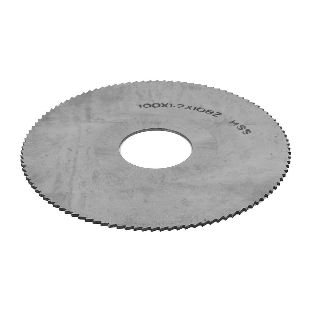 100mm Dia 27mm Bore 1.2mm Thickness 108T HSS Slotting Slitting Saw Mill Cutter