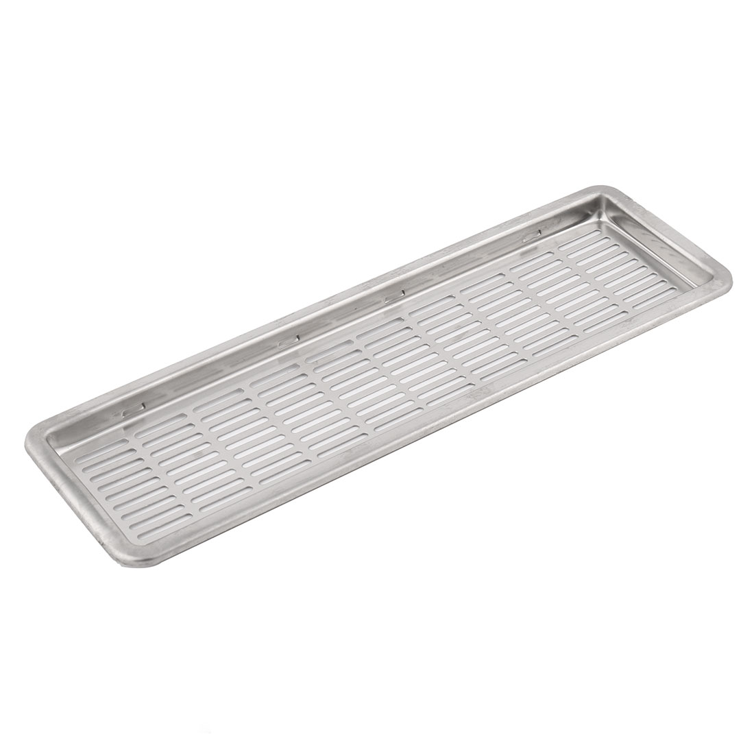 Metal Rectangle Shape Mesh Hole Design Air Vent Ventilation Louvers Silver Tone