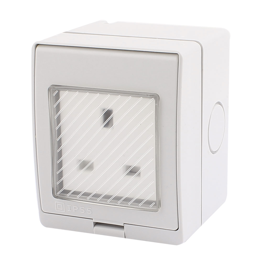 AC 250V 13A UK Socket Electric Power Wall Outlet Plate 86mmx70mmx65mm
