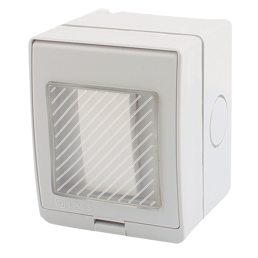 AC 110V-250V 20A Waterproof 1 Gang 2 Way On/Off Switch Wall Plate 86mmx70mmx65mm