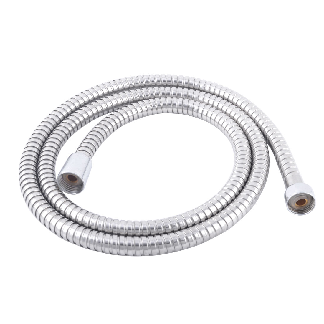 Bathroom Metal Flexible Bathing Water Heater Shower Hose Pipe Silver Tone 150cm Lenght