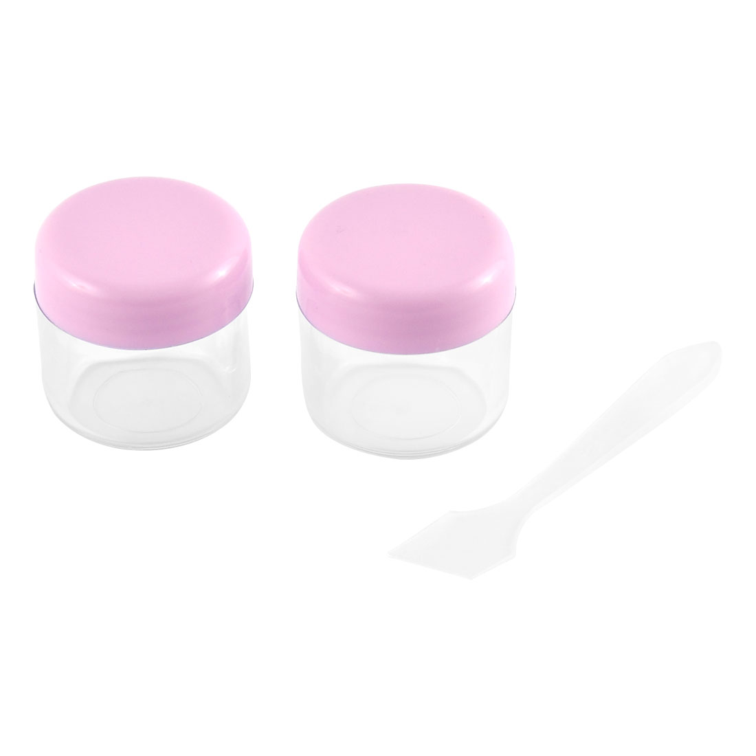 Lady Plastic Multifunctional Makeup Face Skin Cream Empty Cosmetic Jar 20ml 2pcs