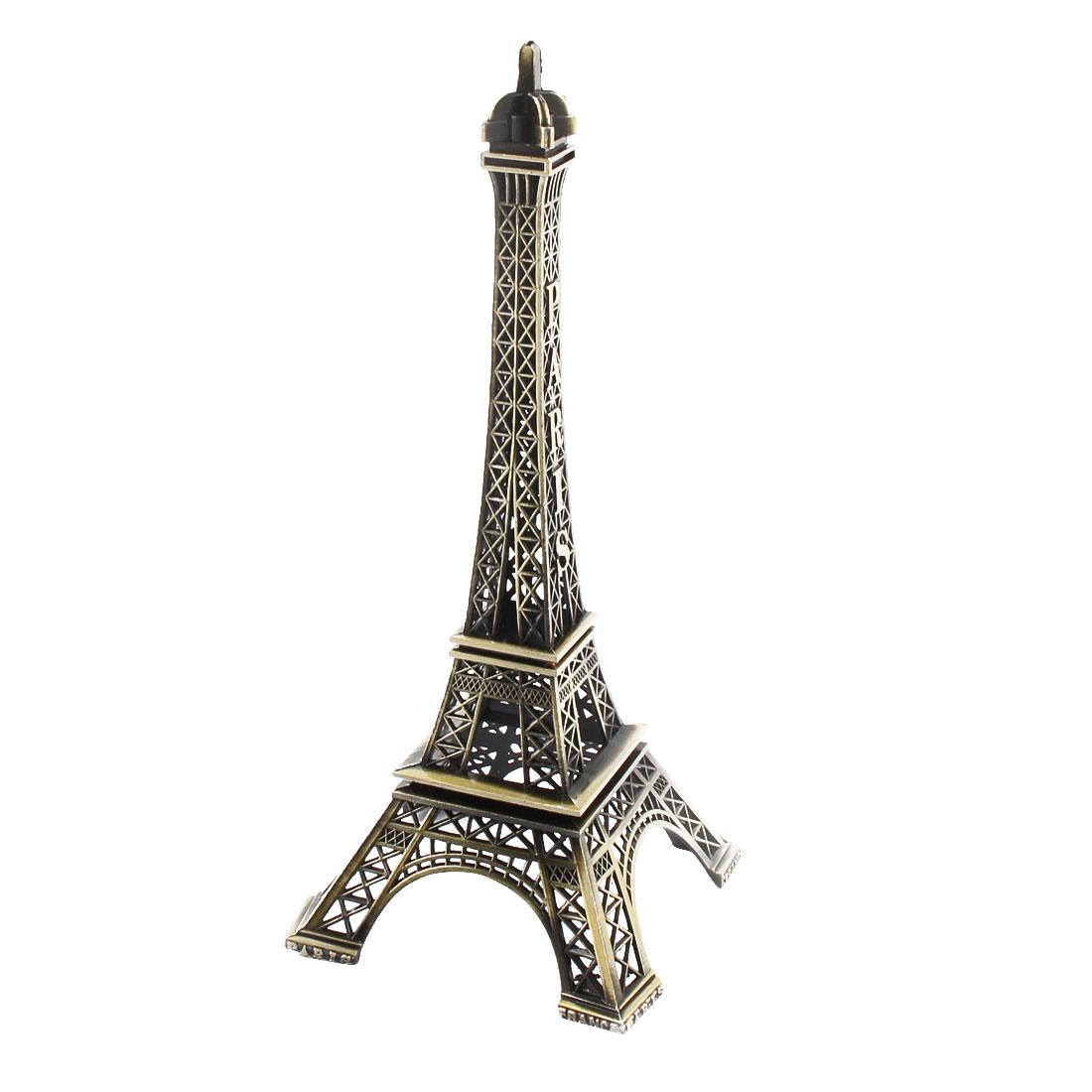 Home Desk Decor Metal Miniature Statue Paris Eiffel Tower Model Bronze Tone