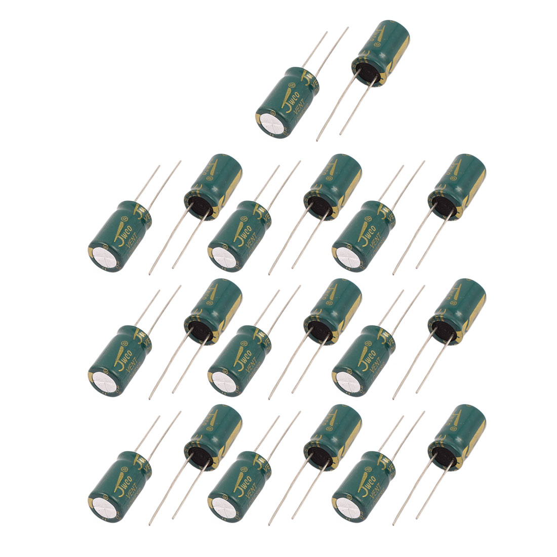 19Pcs 25V 1000uF Aluminum Electrolytic Capacitors 105 degree Celsius 10x17mm