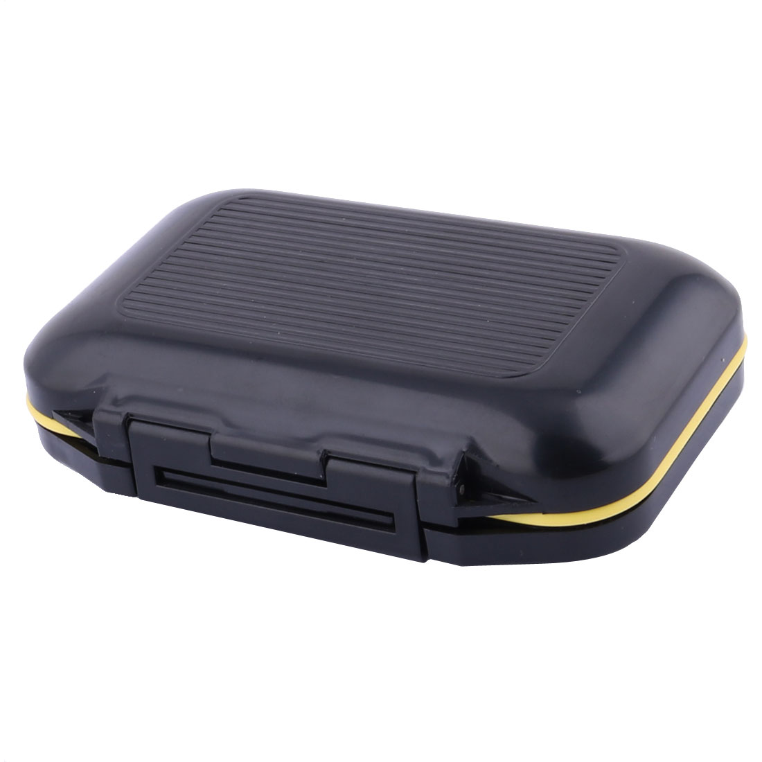 Fishing Plastic Double Side 12 Compartments Bait Box Case Container Black