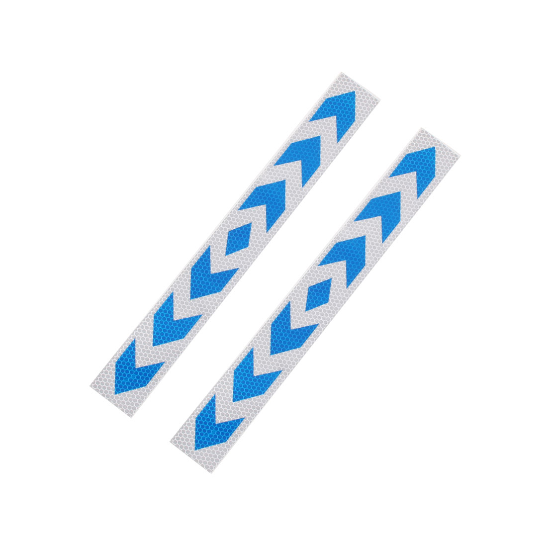 Paper Direction Sign Print Adhensive Car Sticker Blue White 2 Pcs