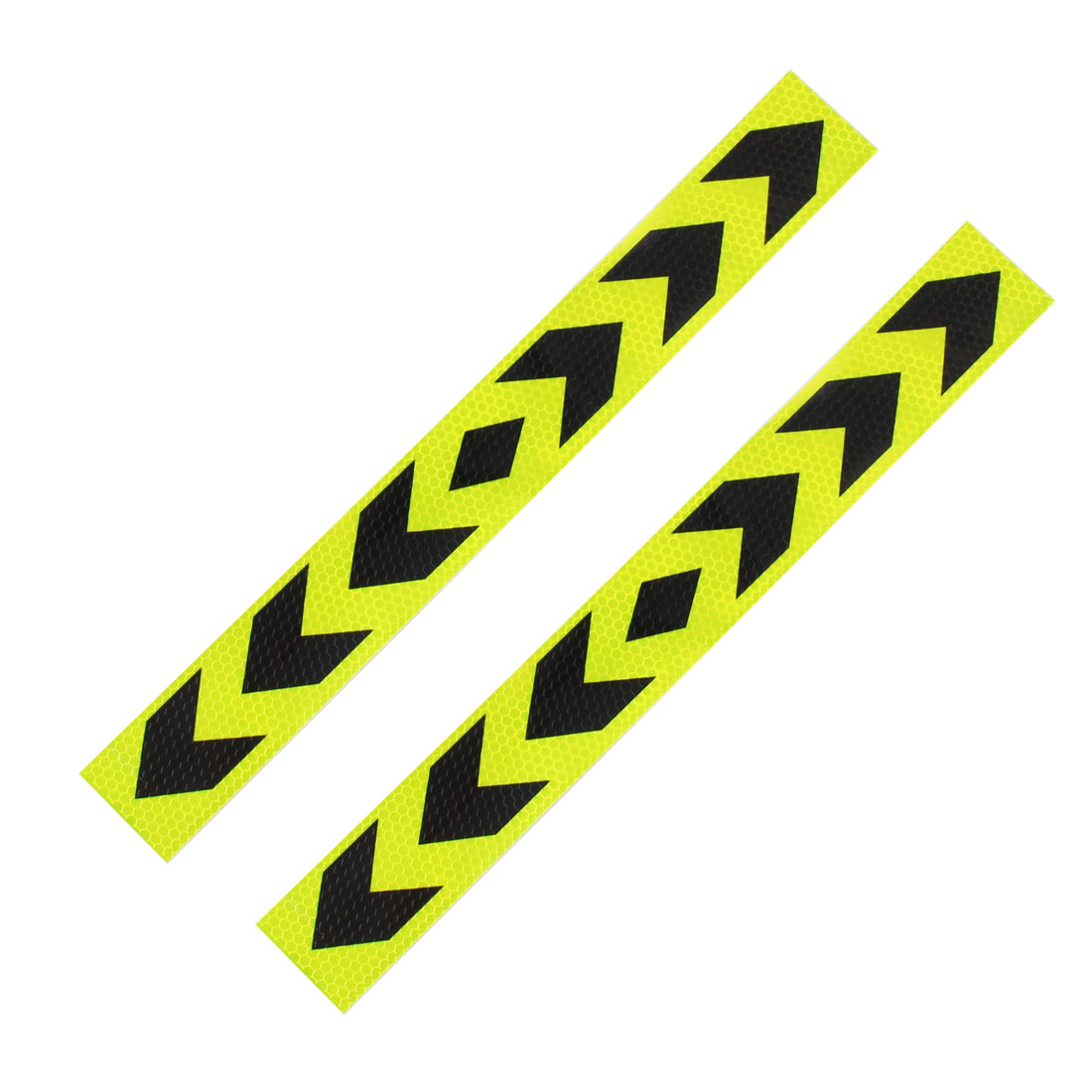 Paper Direction Sign Print Adhensive Car Sticker Black Yellow 2 Pcs