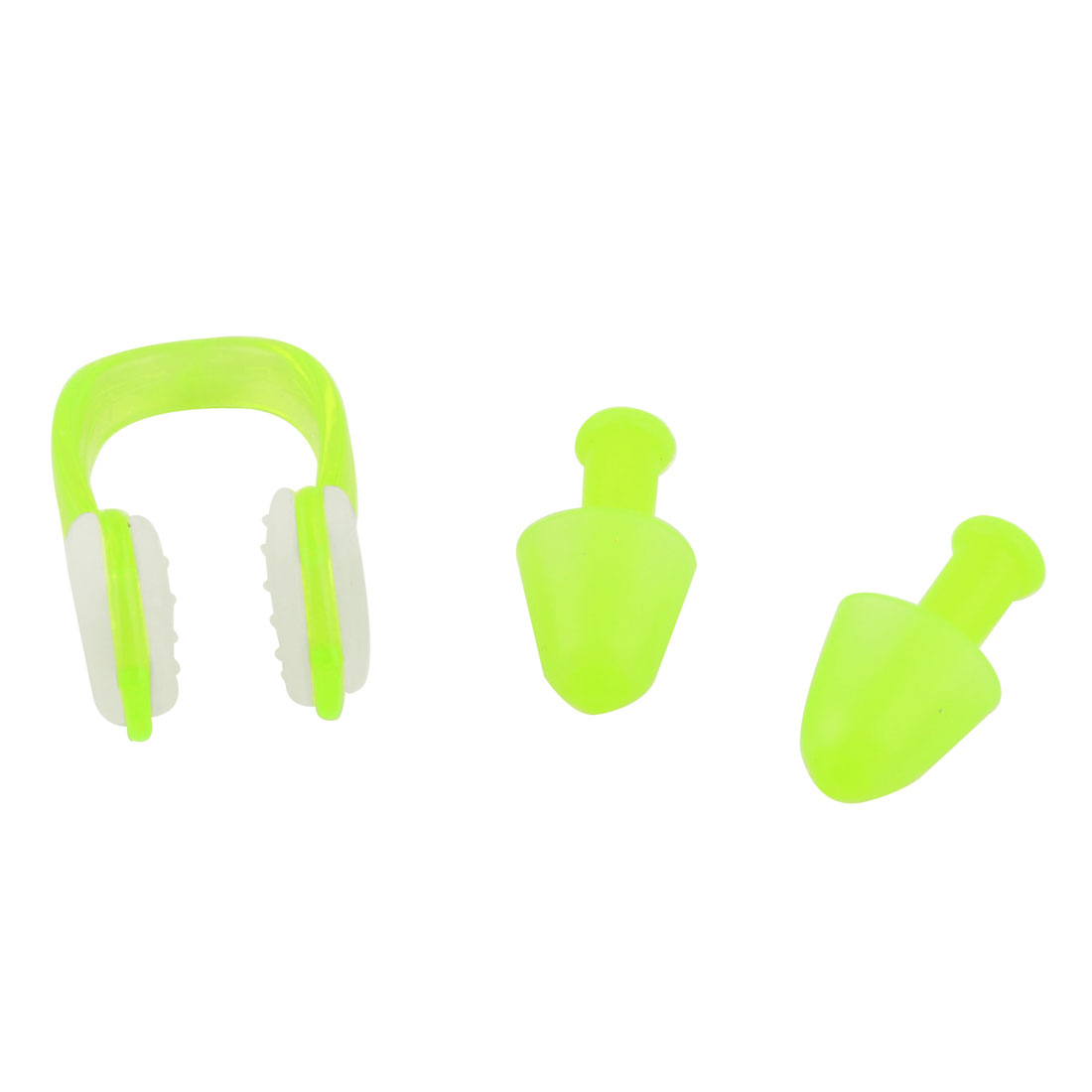 Water Diving Sports Nose Clip Earplugs Swimming Protector Set Light Green Clear