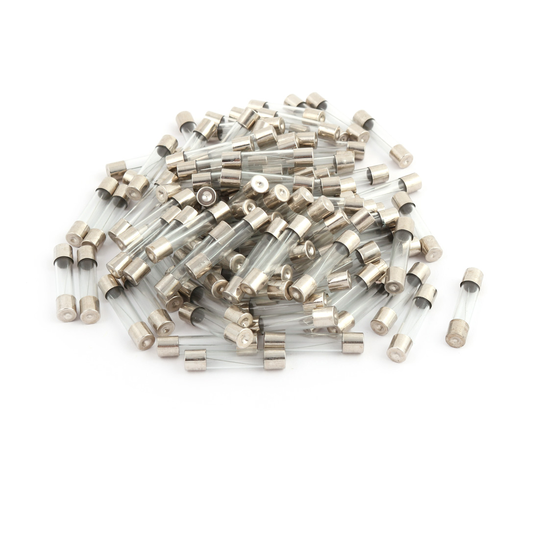 100 Pcs 250V 30A 6mm x 30mm Glass Tube Fuse Silver Tone for Electric Safety
