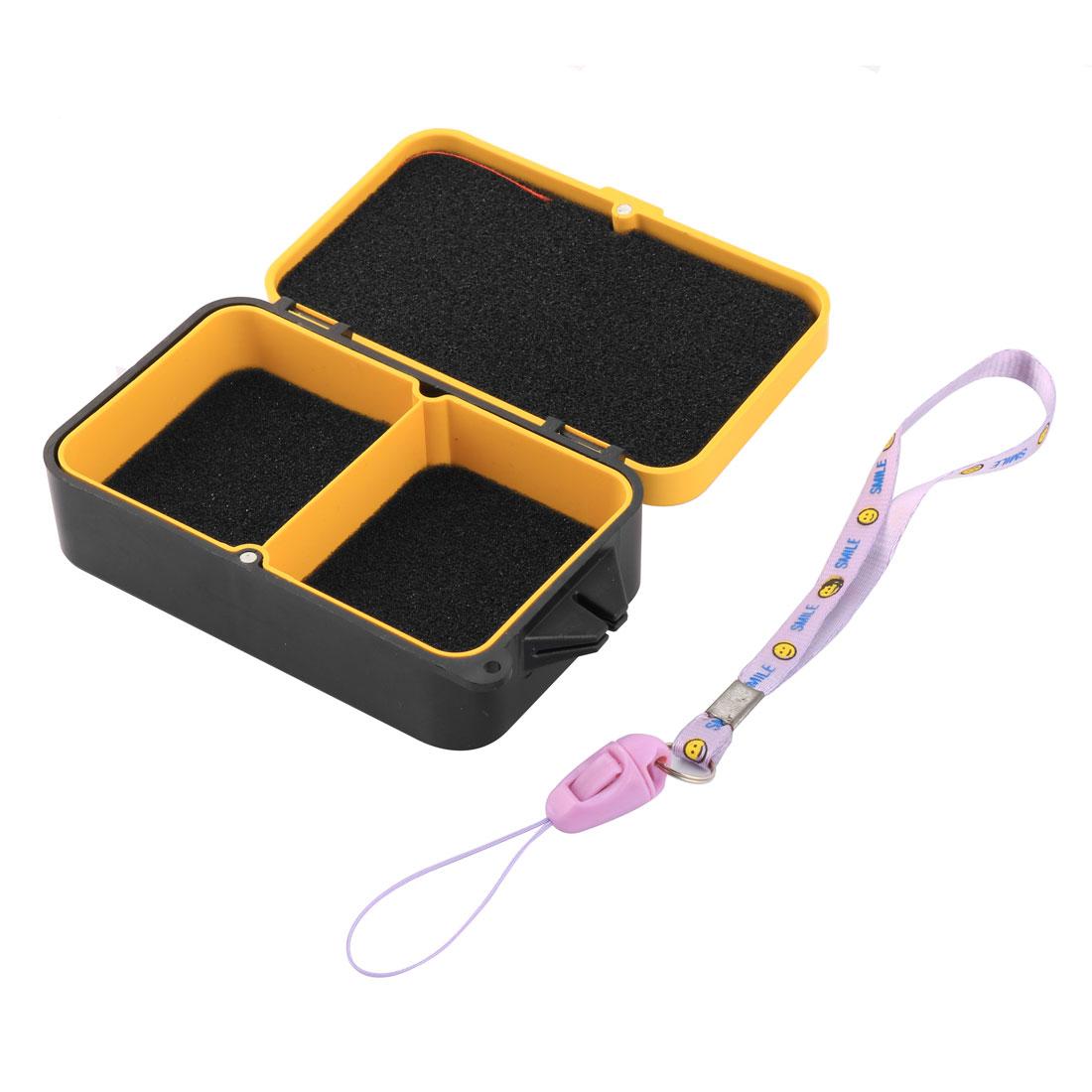 Outdoor Travel Fishing Lure Bait Case Storage Box Orange Black