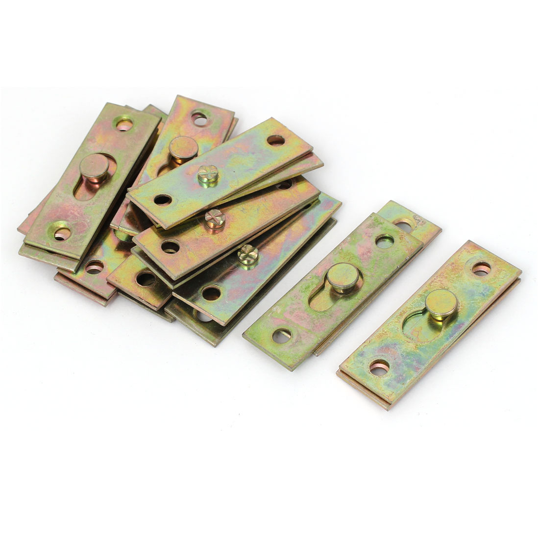 56mm x 19mm Picture Brackets Mirror Hanging Plates Connectors 10sets