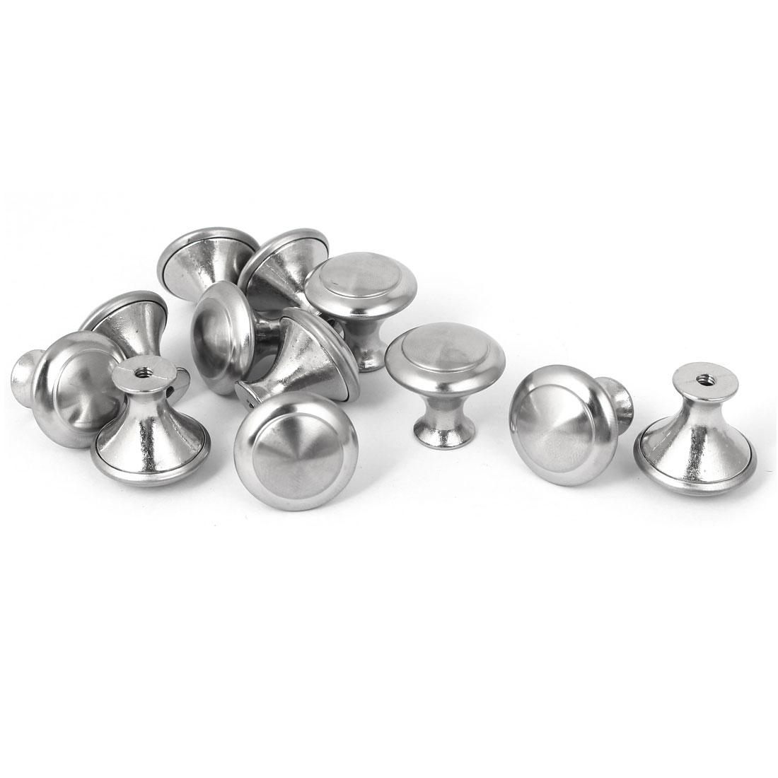 23mm x 22mm Zinc Alloy Single Hole Drawer Kitchen Knob Pull Handles 12PCS