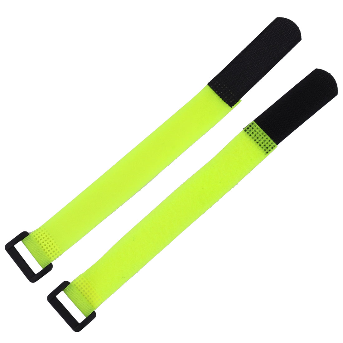 Nylon Adjustable Hook Loop Cable Ties Self Adhesive Fastener Light Green 2pcs