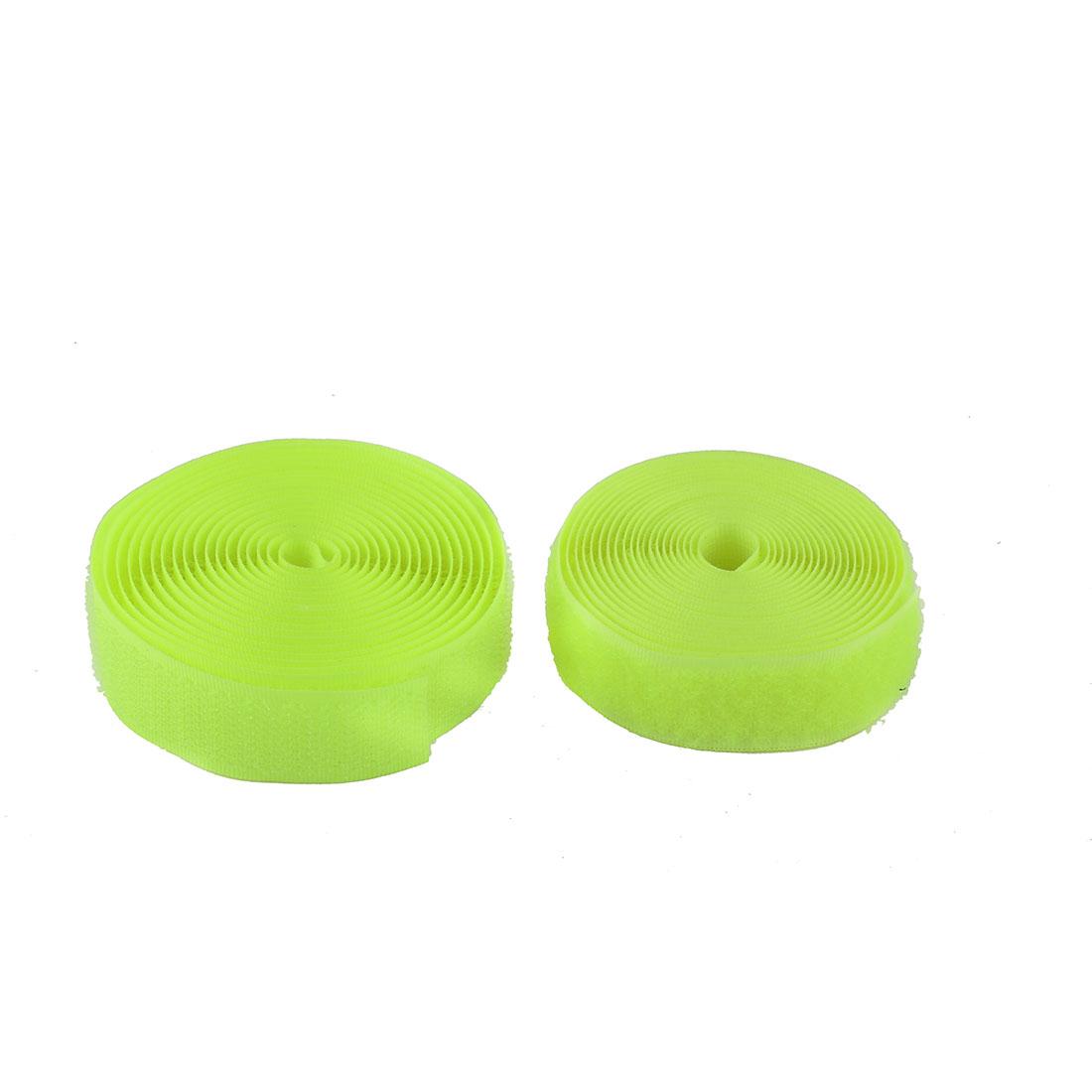 Nylon Sticky Back Strip Self Adhesive Fastener Tape Roll Light Green 2 in 1