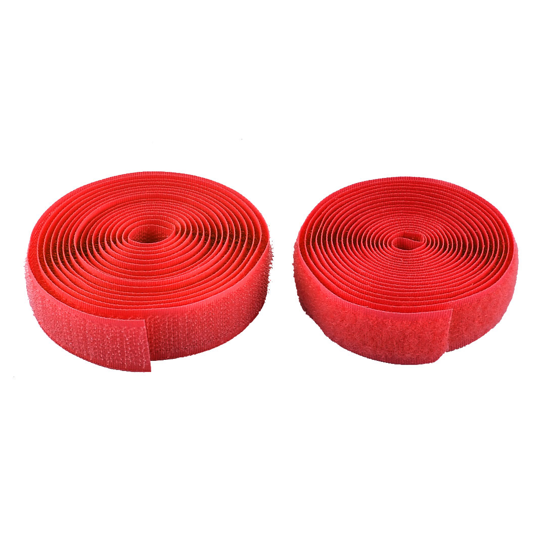 Nylon Sticky Hook Loop Back Self Adhesive Fastener Tape Roll Red 2 in 1