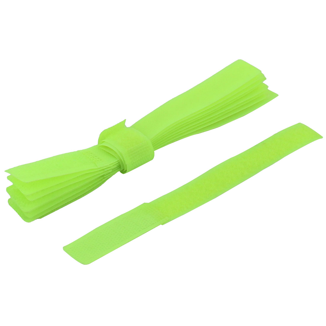 Nylon Self Adhesive Back Sticky Fastener Strong Pad Light Green 10pcs