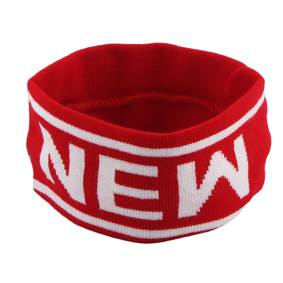 Yoga Volleyball Running Exercise Letter Print Elastic Hairstyle Sweatband Headband Red
