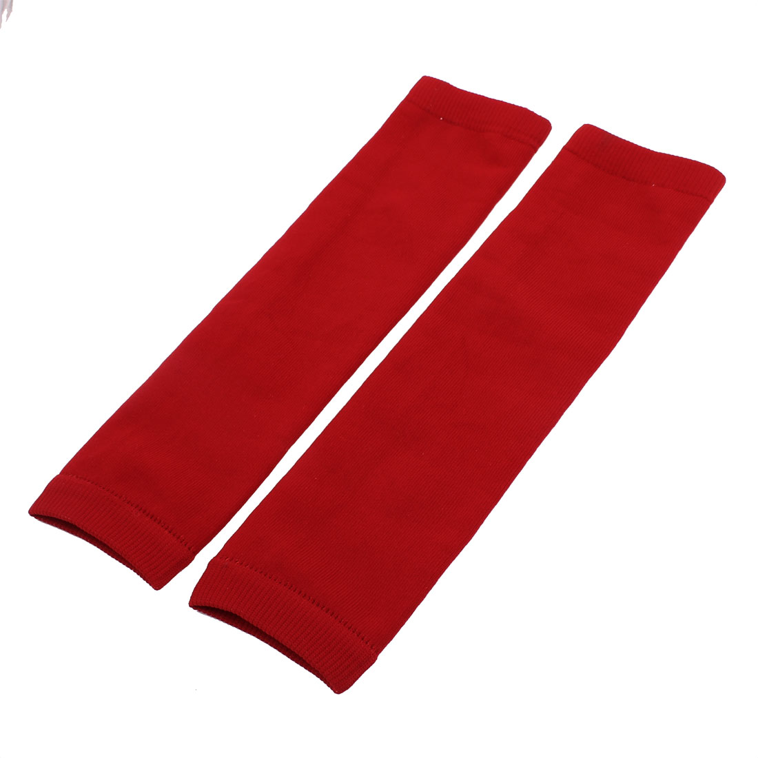 Outdoor Sports Elastic Sleeve Protective Arm Muscle Elbow Brace Support Red Pair