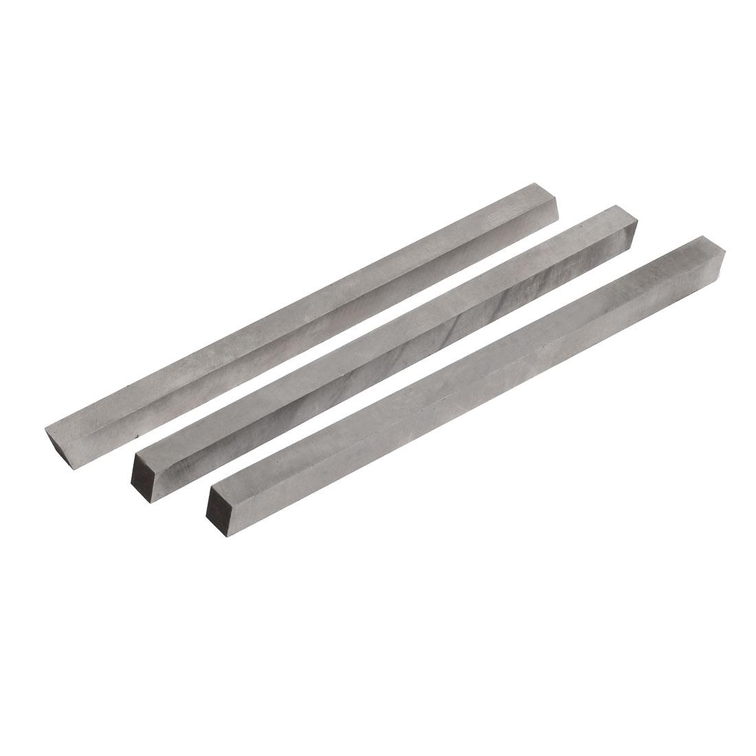 200mm Length 10mm Width HSS Turning Lathe Bit Cutting Tool Silver Tone 3pcs
