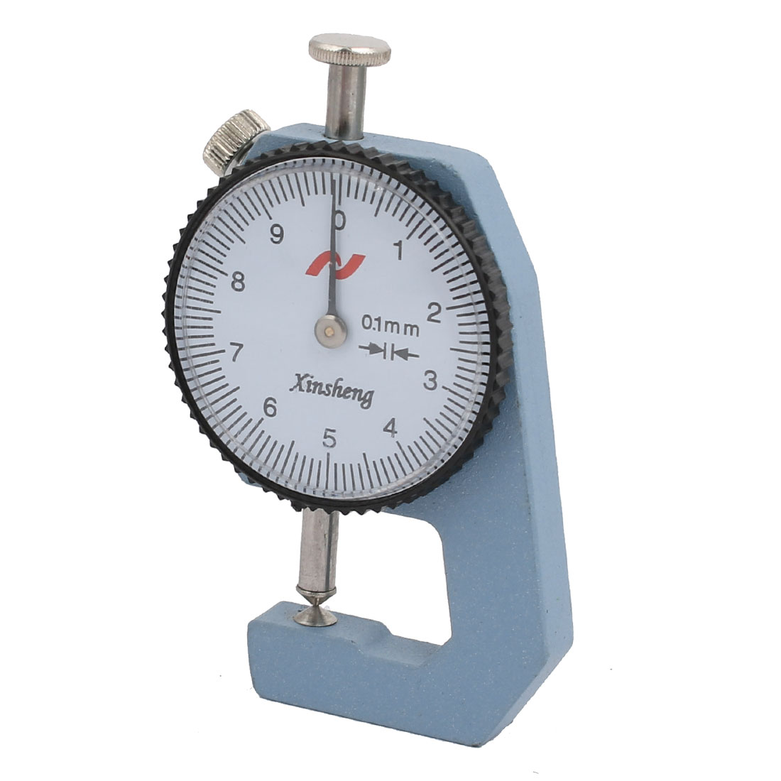 0-10mm Range Measuring Tool 0.01mm Resolution Round Dial Thickness Gauge