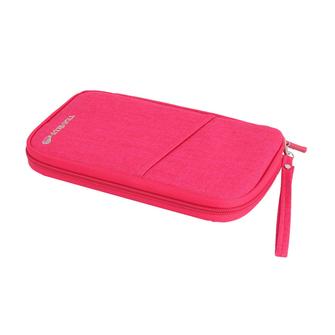Travel Journey Passport Credit Card Holder Cash Phone Organizer Bag Fuchsia