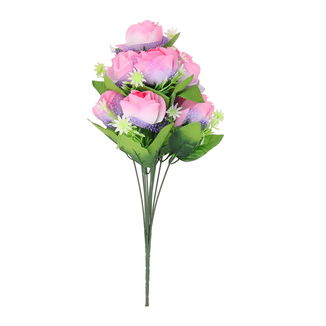 Wedding Party Home Decorating Rose Artificial Flower Bouquet Nosegay Pink