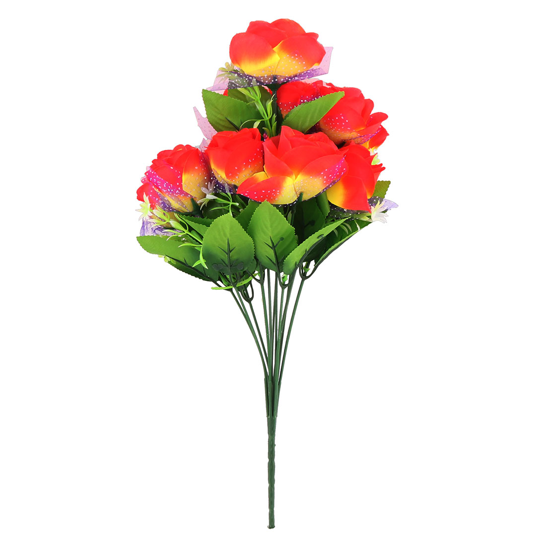 Wedding Party Decorating Everlasting Rose Artificial Flower Bouquet Orangered