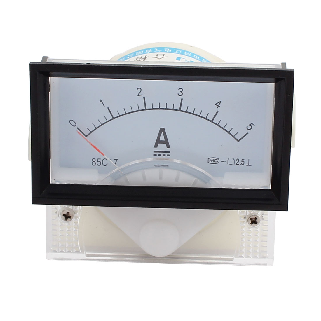 85C17-A Class 2.5 Accuracy DC 0-5A Analog Panel Meter Ammeter Amperemeter