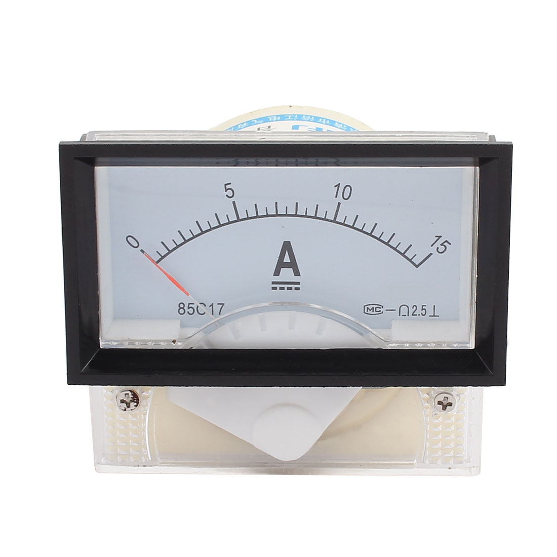 85C17-A Class 2.5 Accuracy DC 0-15A Analog Panel Meter Ammeter Amperemeter