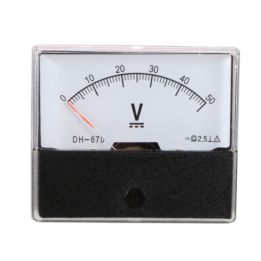 DH670 Class 2.5 Accuracy DC 0-50V Analog Panel Meter Voltmeter Gauge