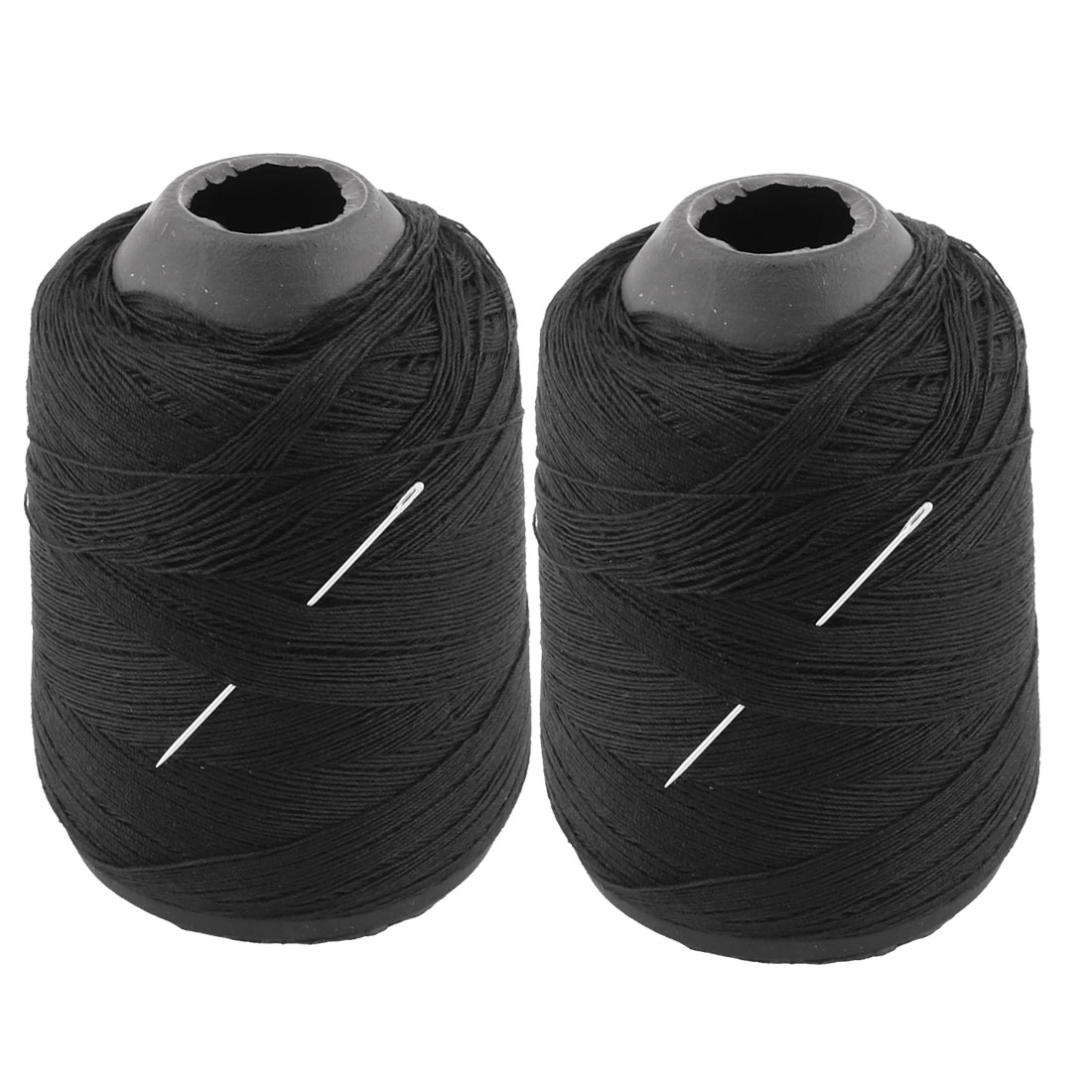 Tailor Craft Needlework Polyester String Line Sewing Thread Spool Reel Black 2pcs