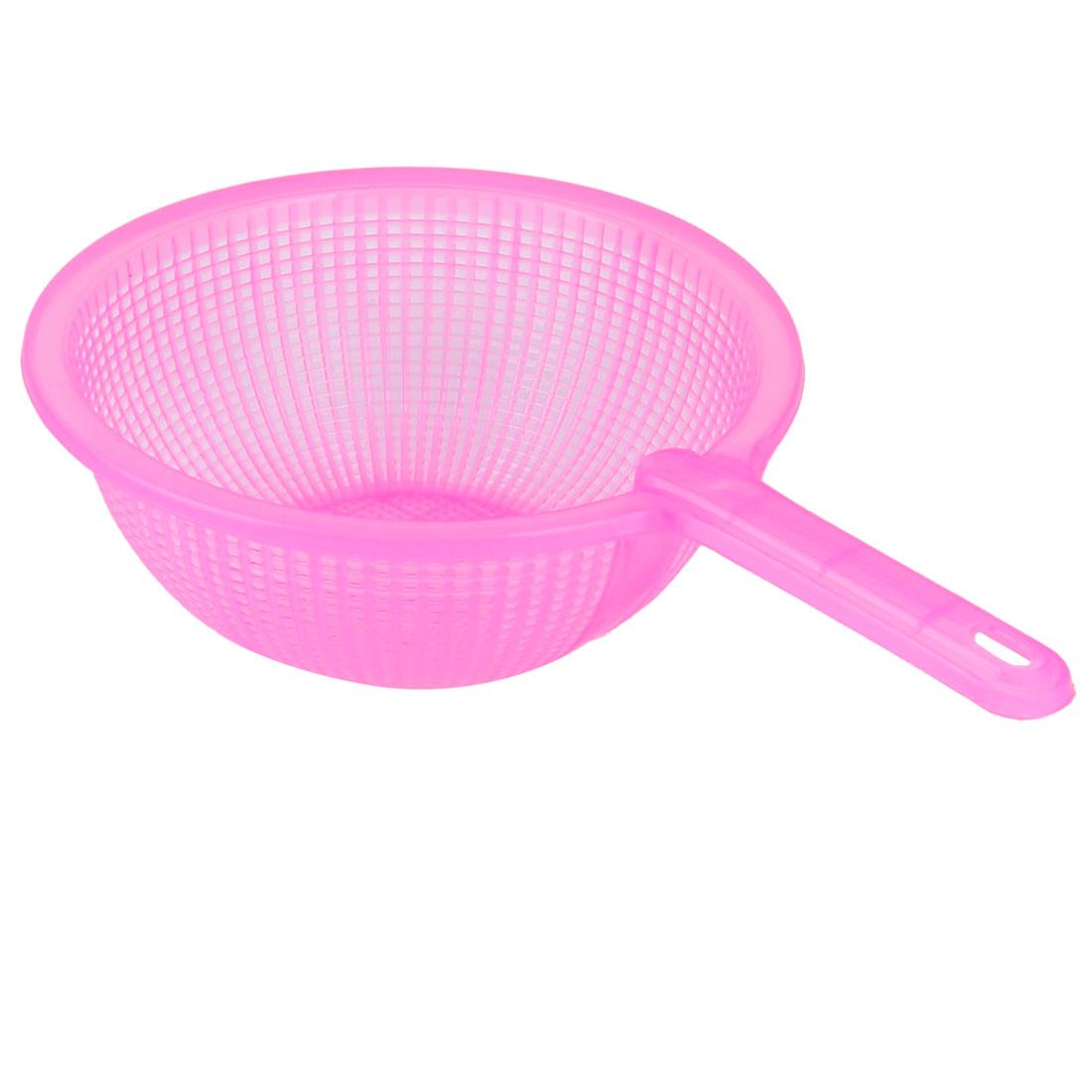 Kitchen Plastic Fruits Vegetables Rice Washing Wash Filter Strainer Colander Pink