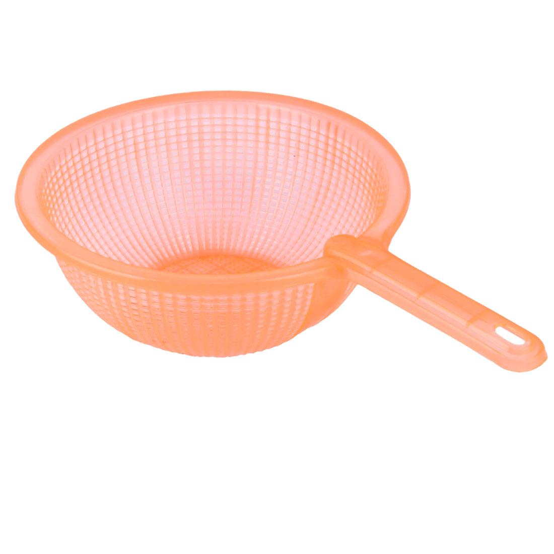 Kitchen Plastic Fruits Vegetables Rice Washing Wash Filter Strainer Colander Orange