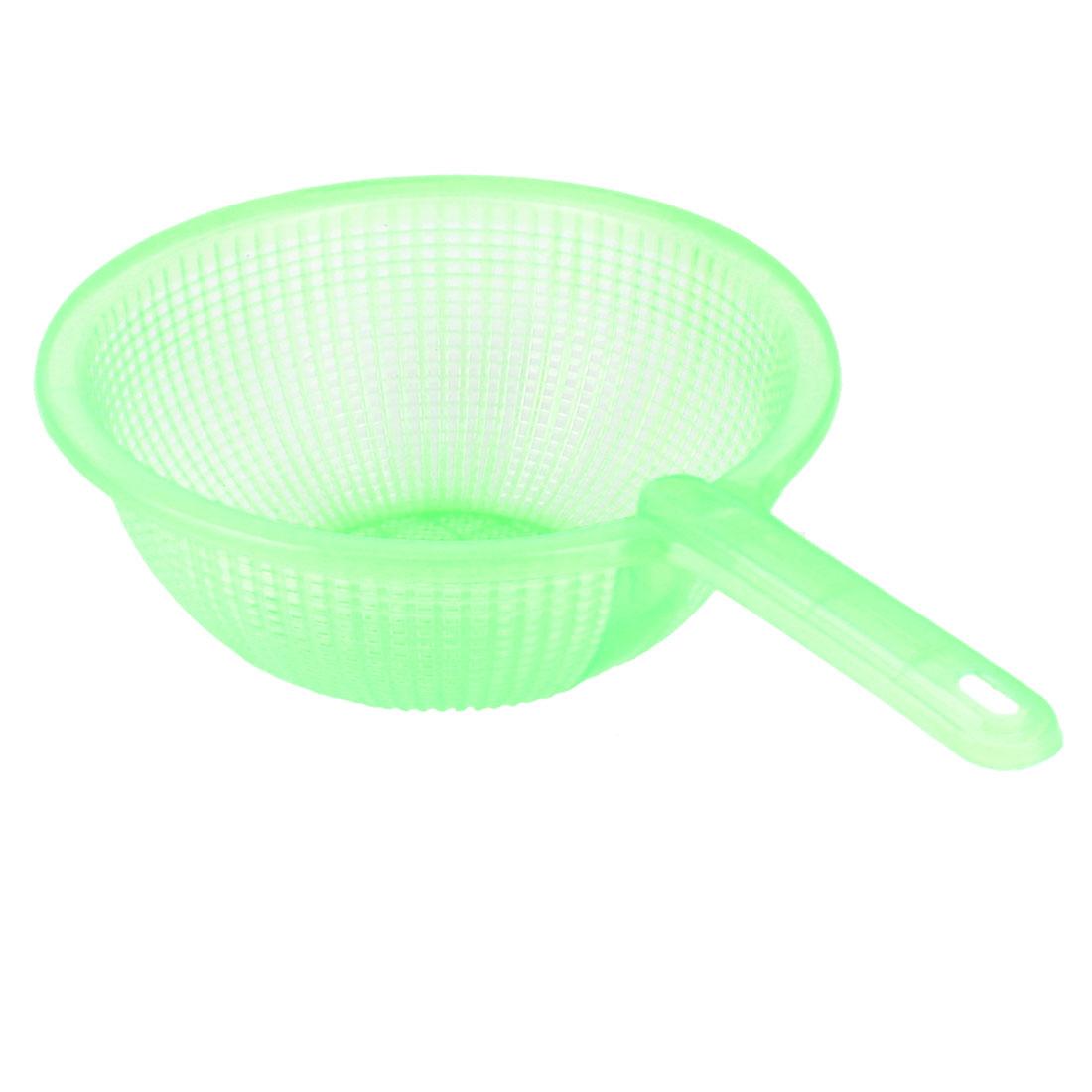 Kitchen Plastic Fruits Vegetables Rice Washing Wash Filter Strainer Colander Green